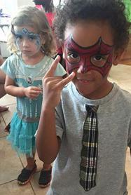 JoAnna Esposito Face painting Spider man Princessface painter for Birthday Parties and Corporate events in Tampa Bay St Pete Clearwater FL