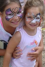 JoAnna Esposito Face painting face painter for Birthday Parties and Corporate events in Tampa Bay St Pete Clearwater FL butterly unicorn