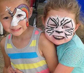 Honey Bunch Face Painting JoAnna Esposito Face painting Unicorn Zebra face painter for Birthday Parties and Corporate events in Tampa Bay St Pete Clearwater FL