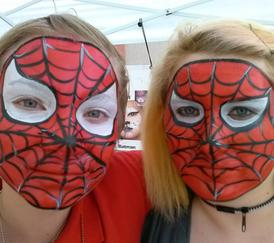 Honey Bunch Face Painting  JoAnna Esposito Face painting Spiderman face painter for Birthday Parties and Corporate events in Tampa Bay St Pete Clearwater FL