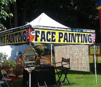 Honey Bunch Face Painting Hire a St Petersburg FL Festival Face Painter Connecticut, Tampa FL Face Painter Connecticut Carnival Festival Fair Face Painting