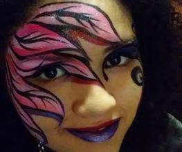 Mardi Gra Festival Face Painter FL Face Painter Tampa Bay Face Painting Artists JoAnna
