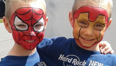 JoAnna Esposito St Petersburg Florida Face Painter Face Painting spiderman and Iron Man