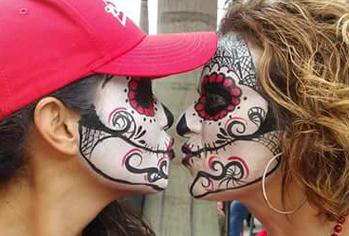 JoAnna Esposito Mexican skull mask day of the dead mask face paint st petersburg fl tampa fl sarasota fl
