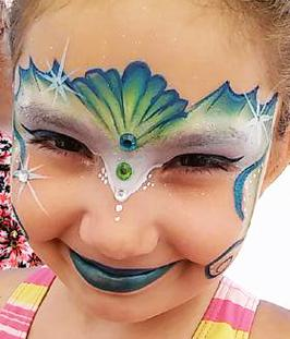 JoAnna Esposito Mermaid Face Paint St Petersburg FL Festival Face Painter