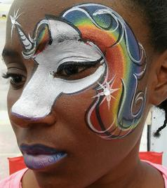 JoAnna Esposito Unicorn Face Painting Sarasota FL Festival Face Painter Top Best Face Painters