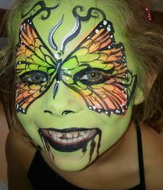 JoAnna Esposito Zombie Butterfly Face Painting Sarasota FL Festival Face Painter Top Best Face Painters
